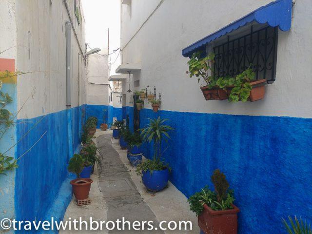 Rabat, narrow alley inside the Oudayas kasbah