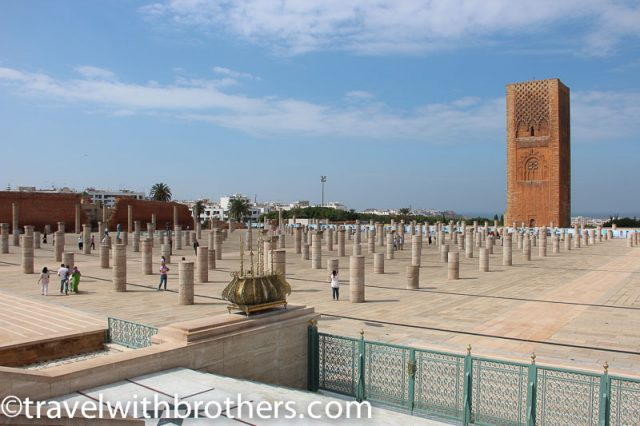 Rabat, the imposing Hassan Tower