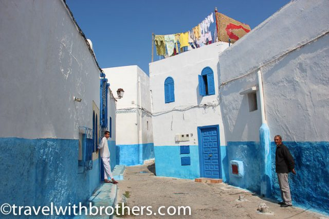 Rabat, colorful houses of Oudaia Kasbah