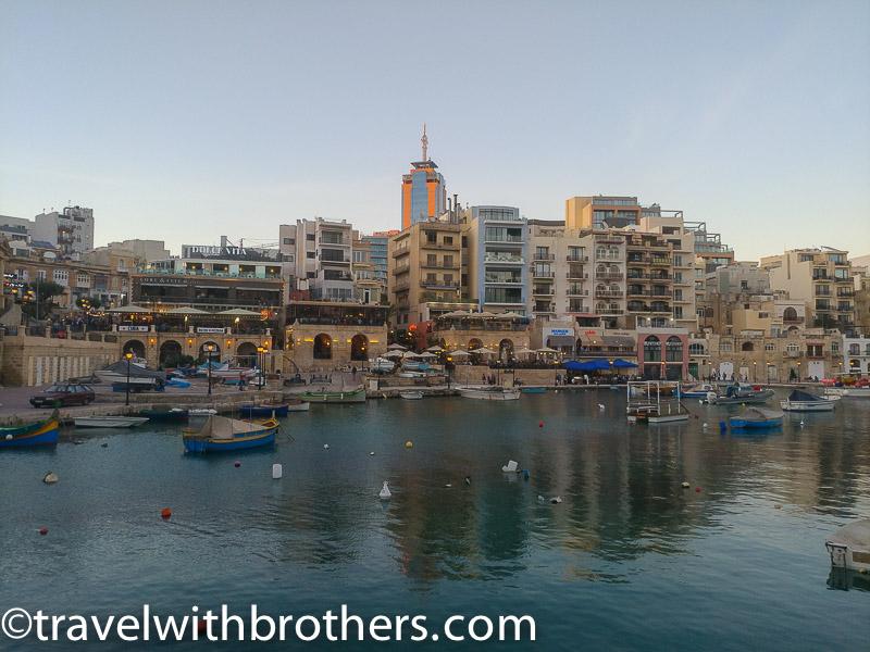 Malta, Spinola bay in St. Julian's