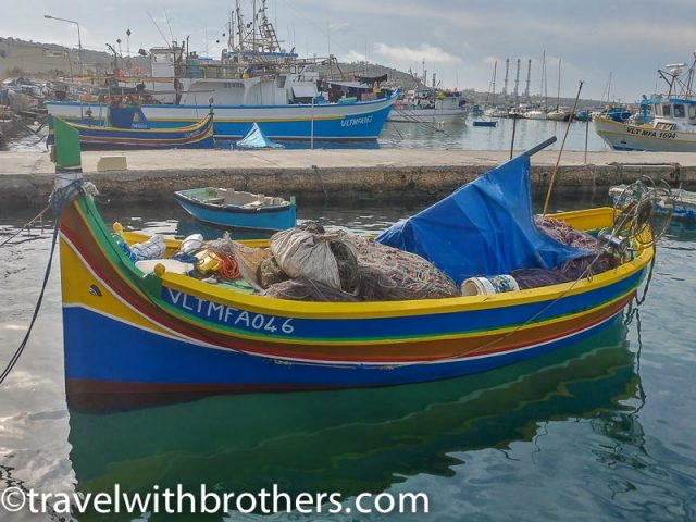 Malta, the fishing wooden boat known as Luzzi