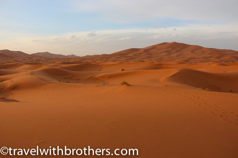 Morocco, the high dunes in the Erg Chebbi desert