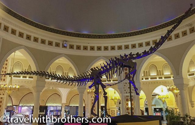 Dubai Mall, the skeleton of a Dinosaur