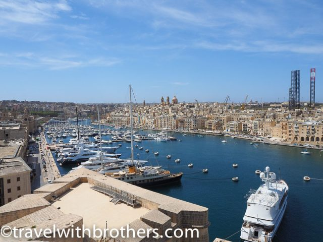 Malta, 3 cities view from Fort St Angelo