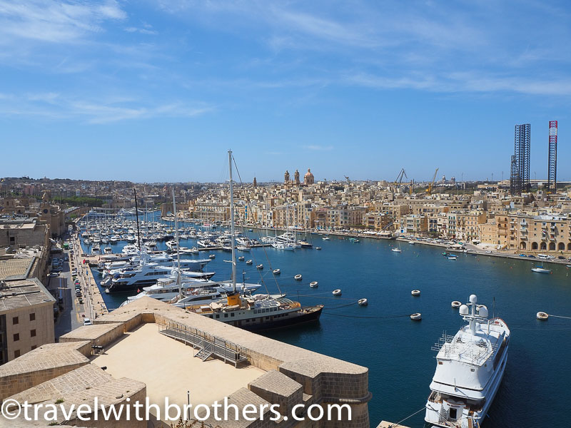 Malta, 3 cities view from Fort St. Angelo