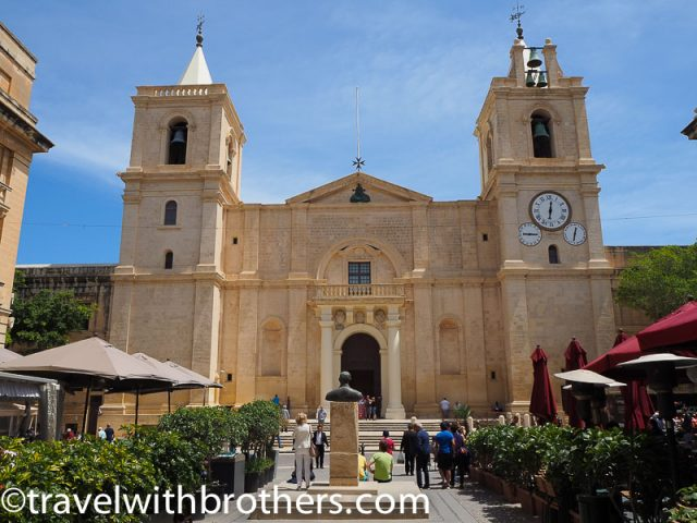 Malta, the exterior of St John Co-Cathedral