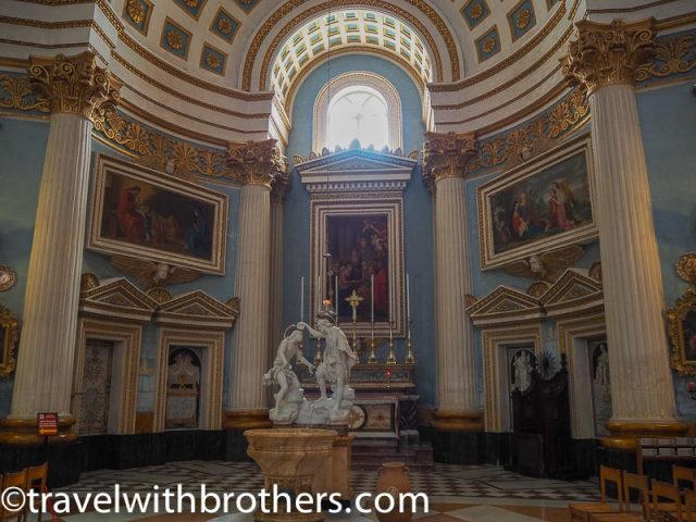 Malta, a Chapel of Mosta Rotunda church
