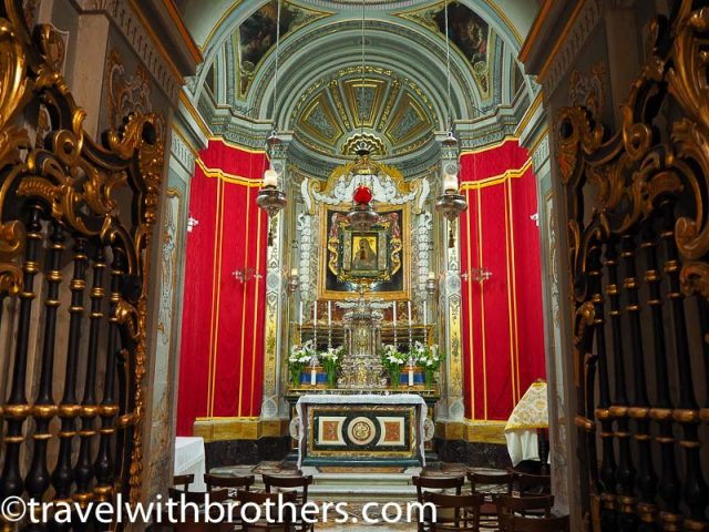 Mdina, the Chapel of the Blessed Sacrament - St Paul cathedral