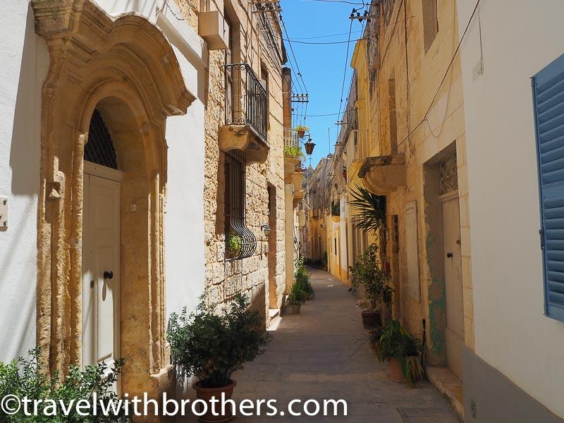 Malta, a narrow street in Rabat