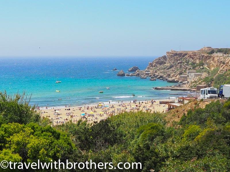 Malta, the Golden Bay beach