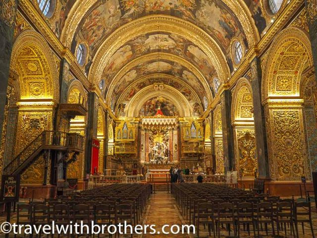 Malta, the nave of St John Co-Cathedral