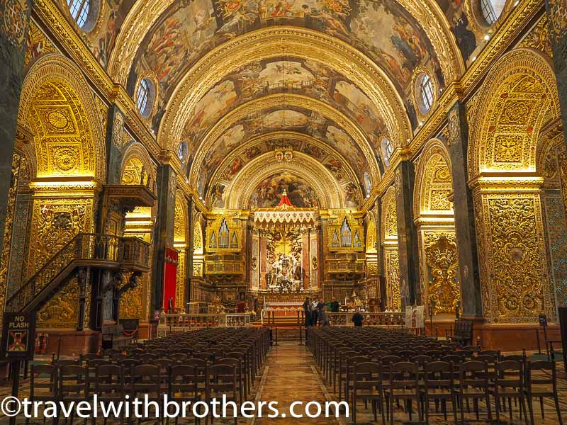 Valletta, the nave of St John Co-Cathedral