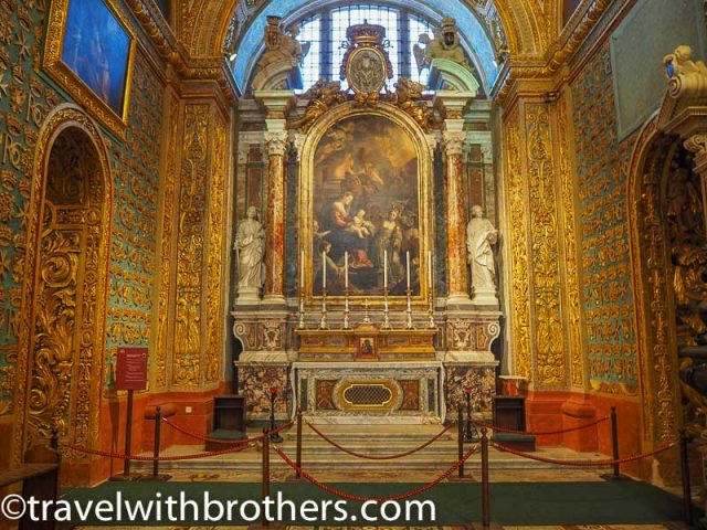 Malta, the Chapel of the langue of Italy , St John Co-Cathedral