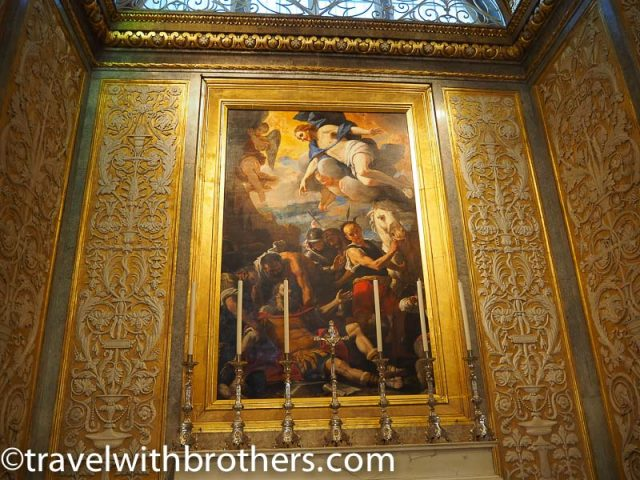 Malta, the conversion of St Paul in the Chapel of the langue of France, St John Co-Cathedral