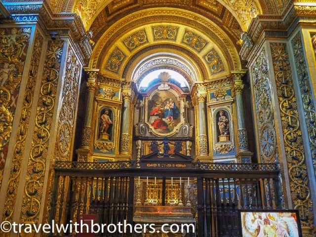 Malta, the chapel of the anglo-Bavarian langue, St John Co-Cathedral