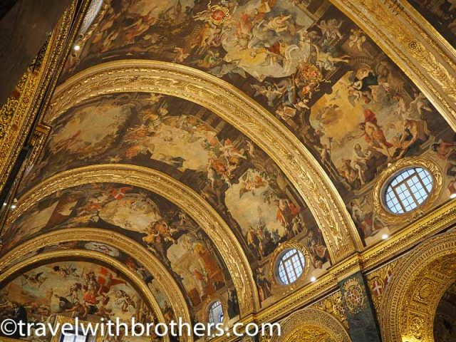 Malta, the painted ceiling of St John Co-Cathedral