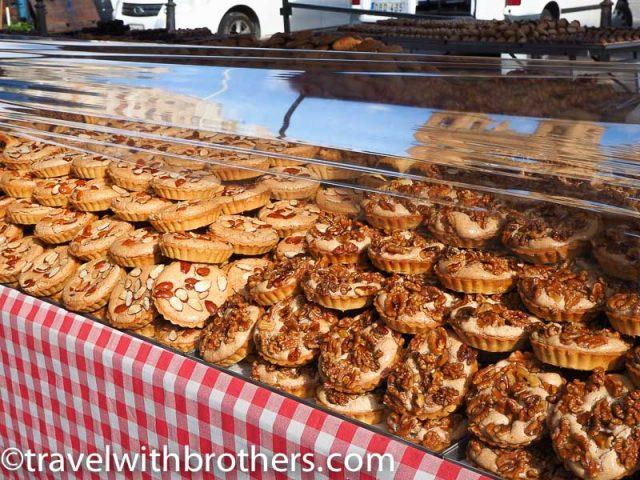 Malta, a stall selling sweets at Marsaxlokk market