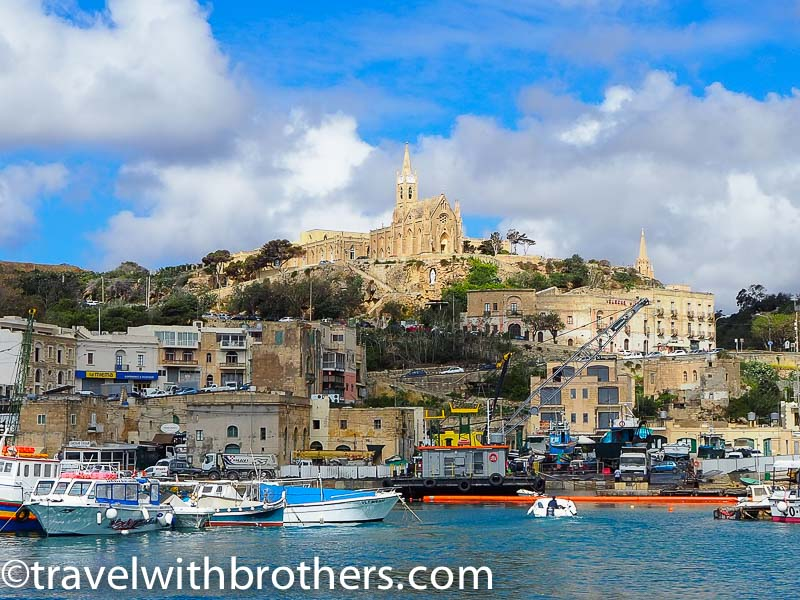 Gozo, view from Mgarr harbour