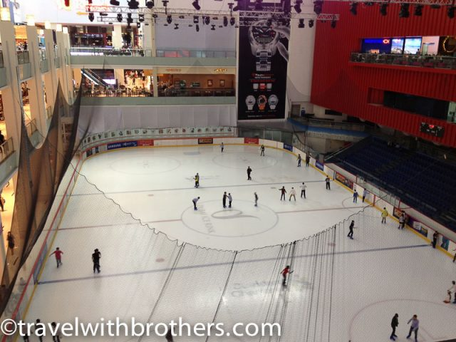 Dubai mall, the Ice rink