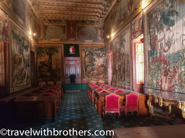 Valletta, a room of the Grand Master's palace