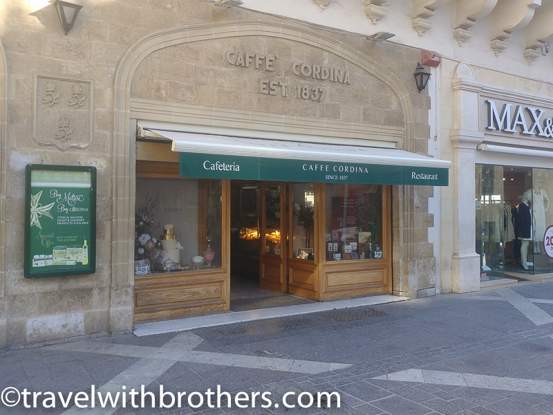 Valletta, the ancient Caffè Cordina