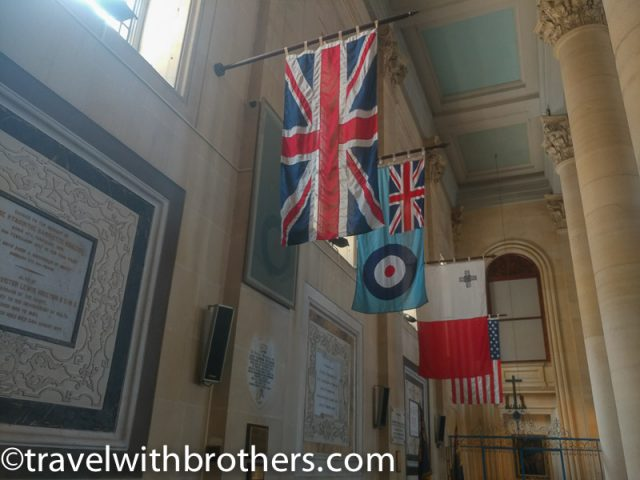 Valletta, St Paul's Pro Cathedral Royal Air Force flags