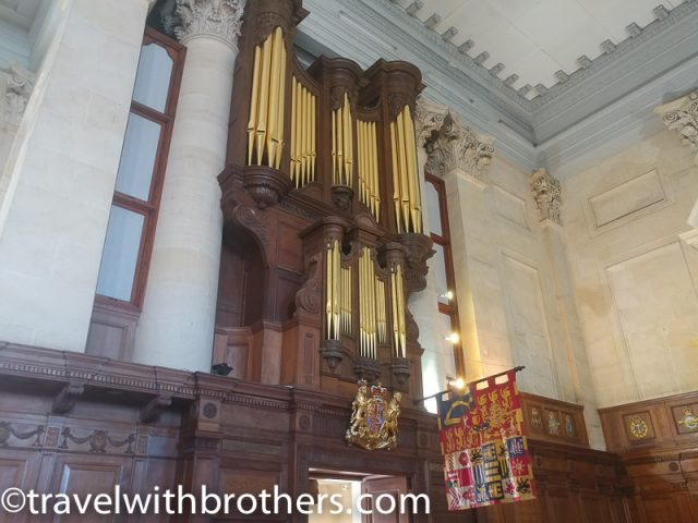 Valletta, St Paul Pro Cathedral organ and coat of arms
