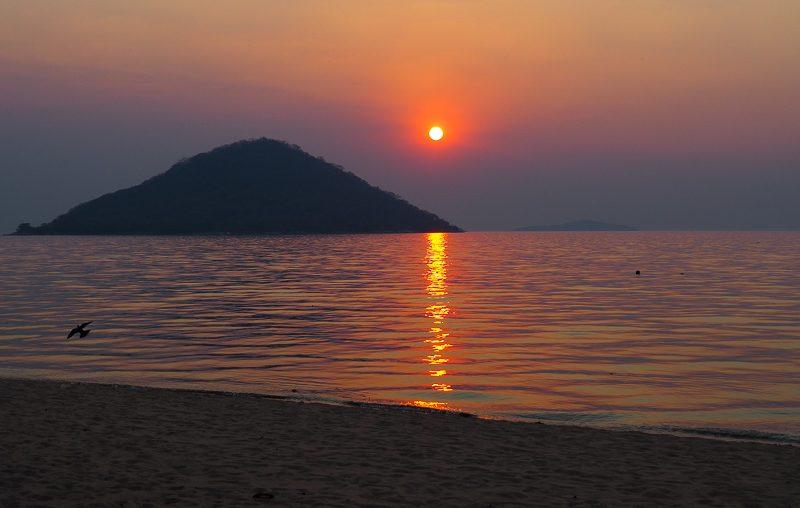 Cape Maclear sunset, Lake Malawi NP