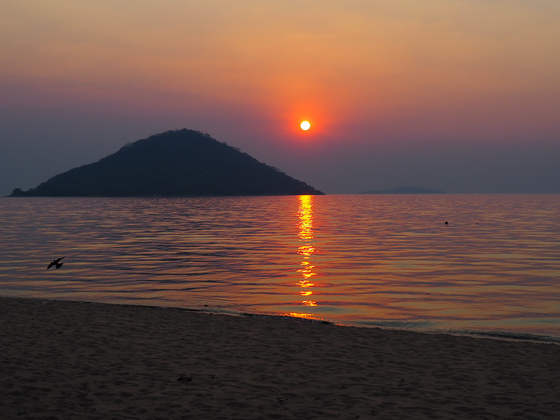 Cape Maclear sunset, Lake Malawi NP