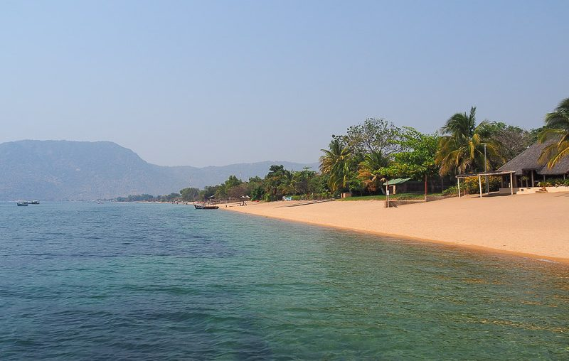 Cape Maclear beach -west side, Lake Malawi