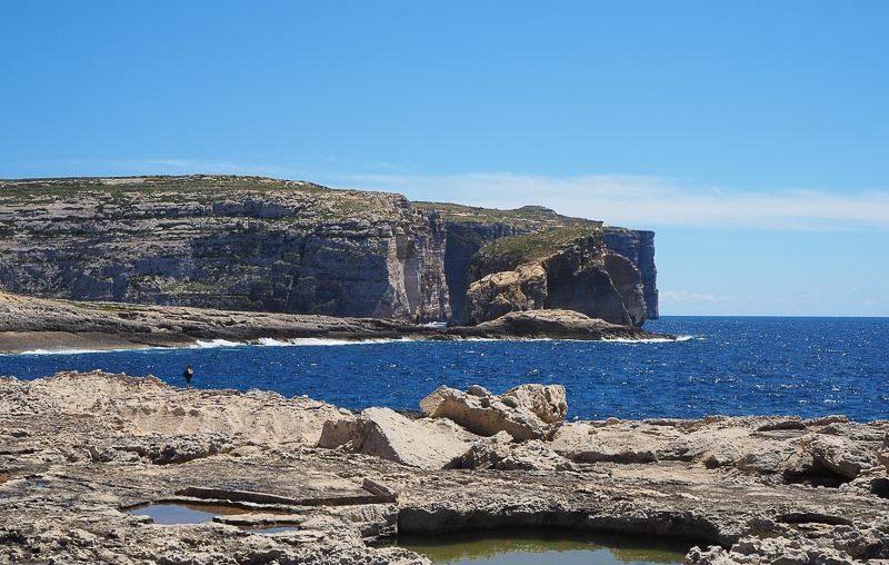 Gozo island, a view of the coast near the azure window