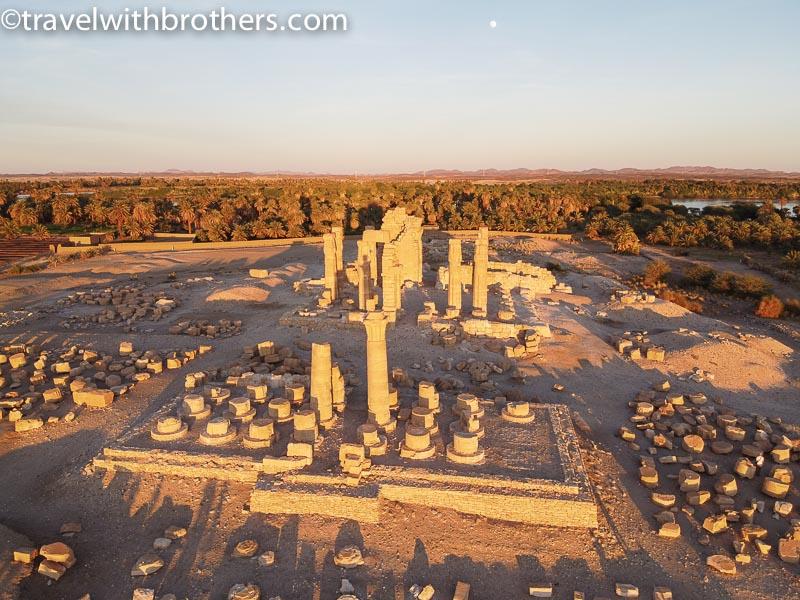Sudan, Soleb Temple at sunset