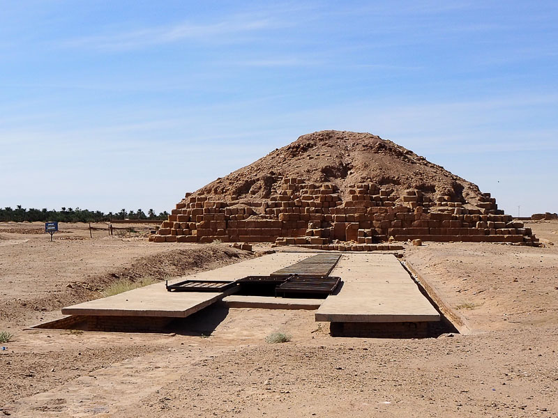 Sudan, a pyramid and a tomb at El Kurru necropolis