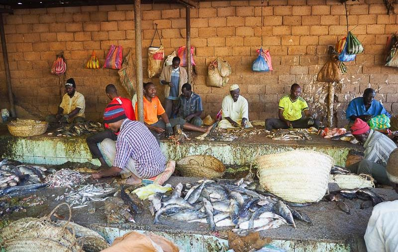 Fishermen at Khartoum fish market