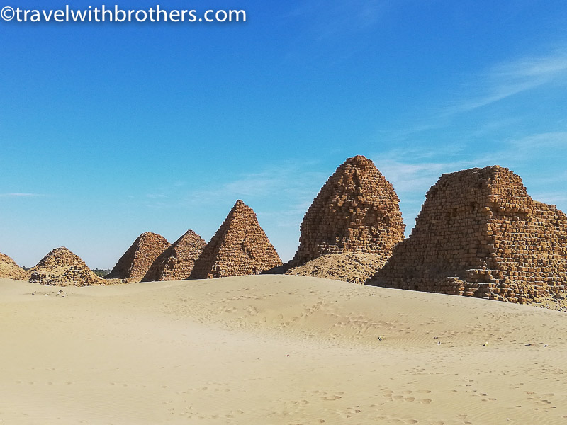 Sudan, the pyramids in Nuri necropolis