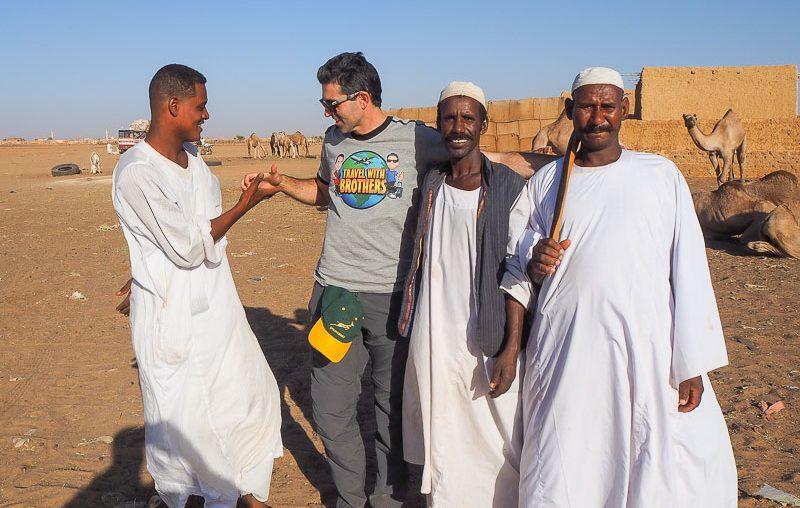 Vendors at Khartoum camel market