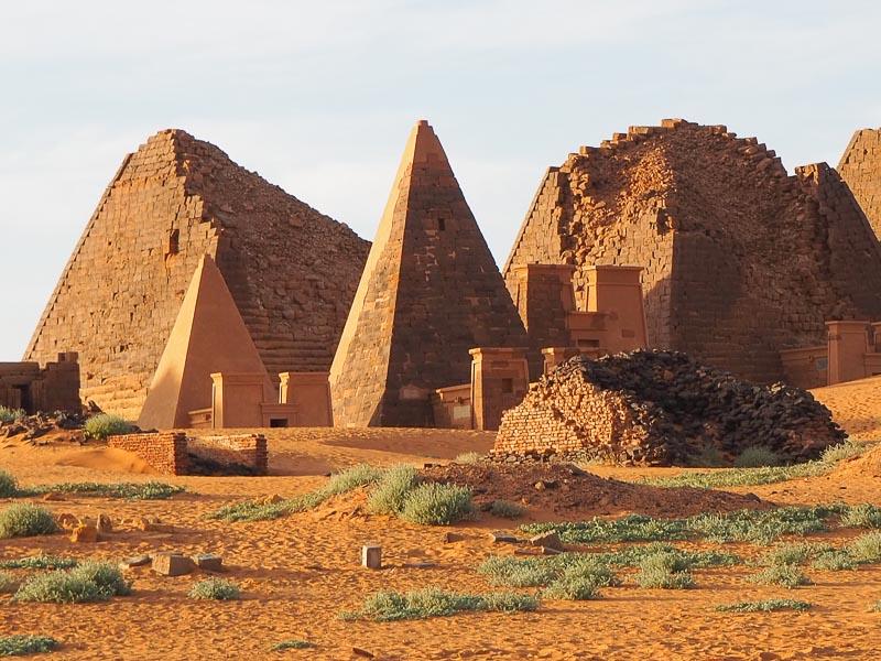 Sudan, pyramids at Meroe Necropolis