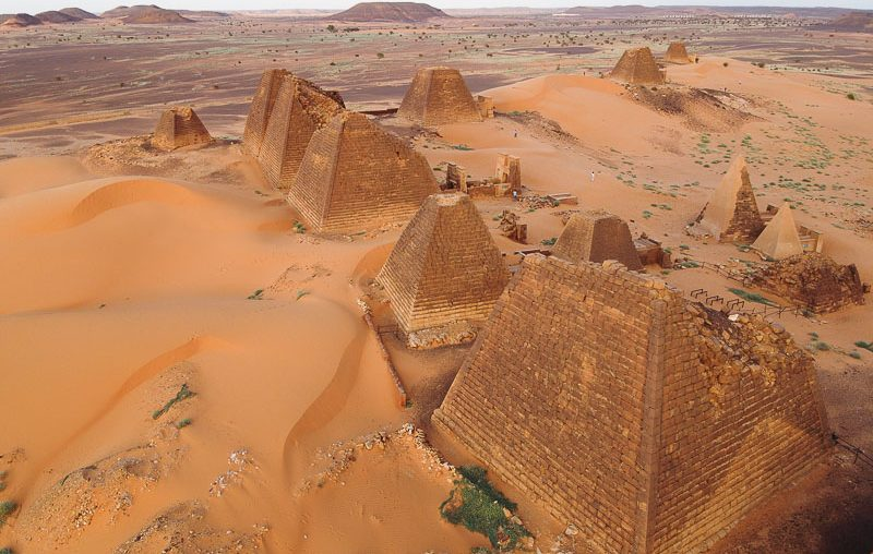 Sudan, pyramids in the north cemetery of Meroe