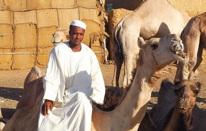 a vendor at Khartoum camel market