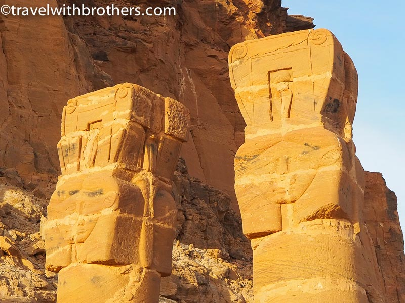 Jebel Barkal, the columns of the Temple of Mut
