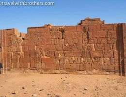 Naqa, a wall of the Lion Temple