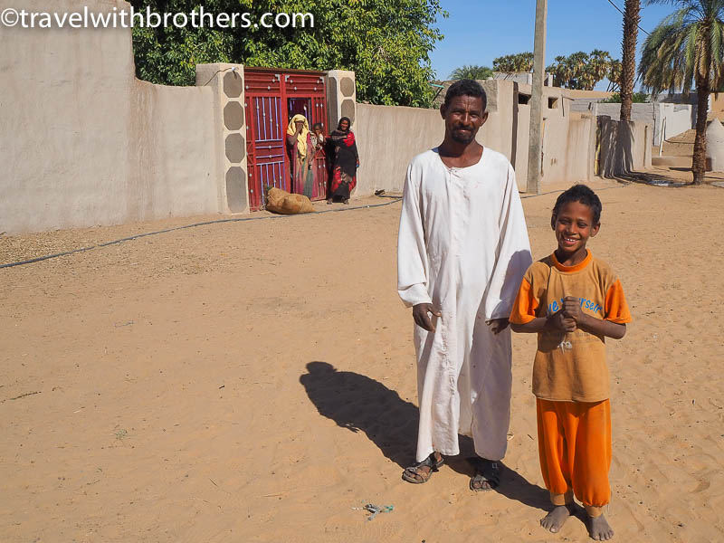 Nubian village, a welcoming family