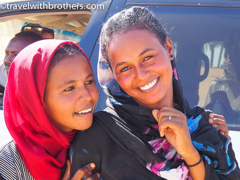 Nubian village, the beautiful small of a girl