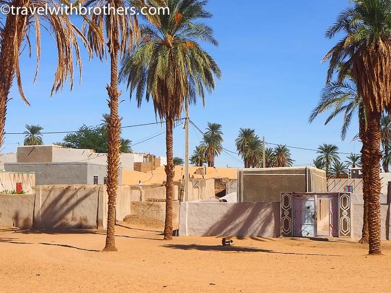 A Nubian village along the Nile river