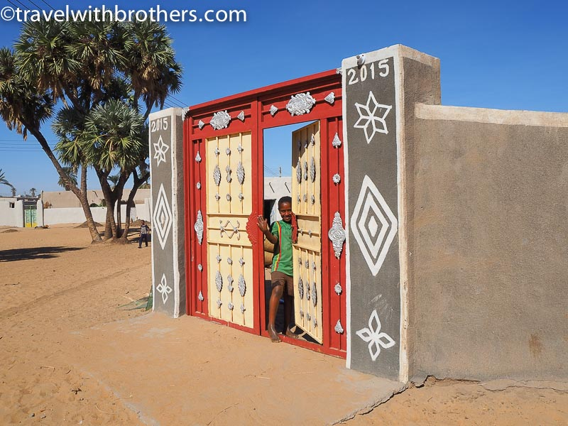 Nubian village, the beautiful decorations of a doorway