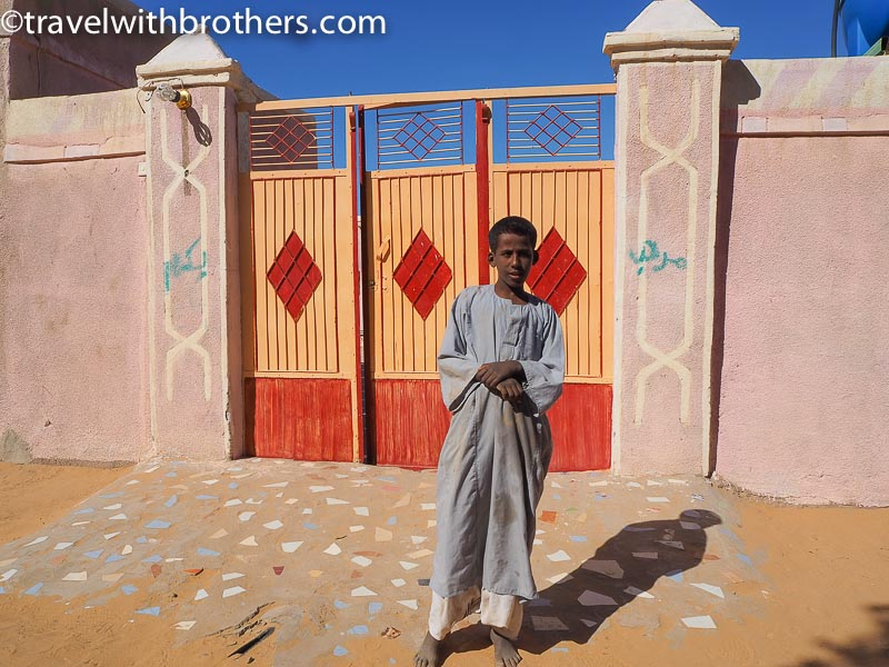 Nubian village, a colourful doorway