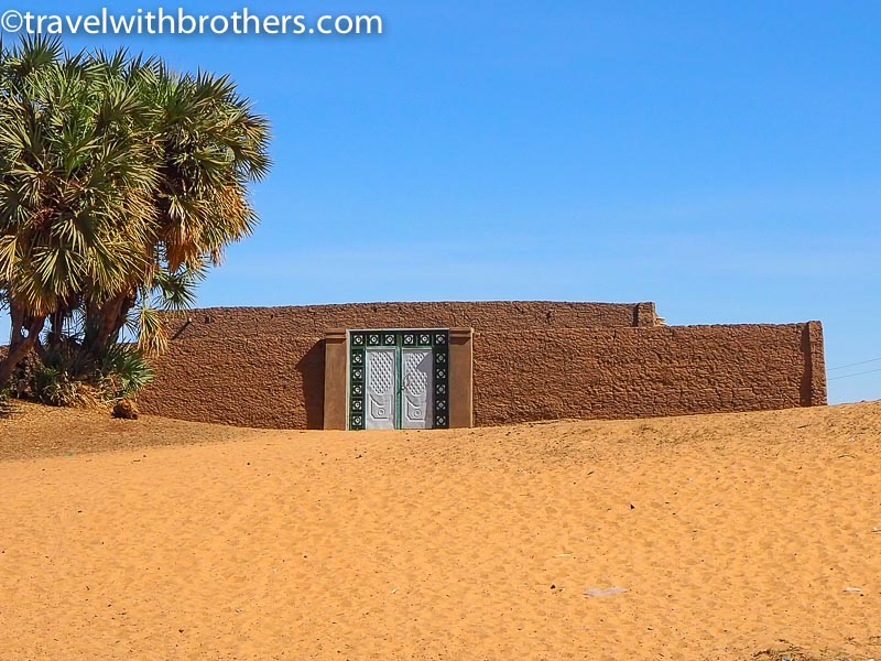 Nubian village, the colourful doorway of a house