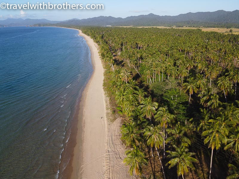 San Vicente Palawan, the palm fringed Long Beach
