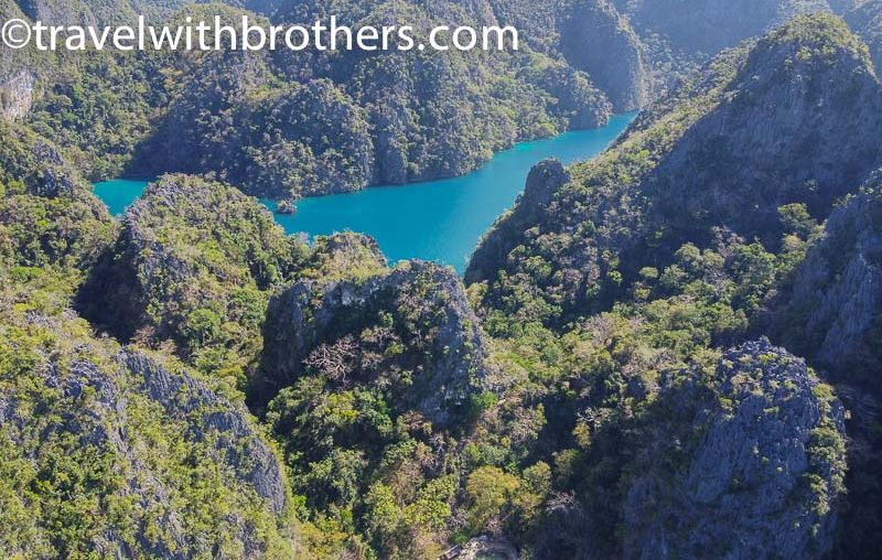 Coron, sky-view of Kayangan lake