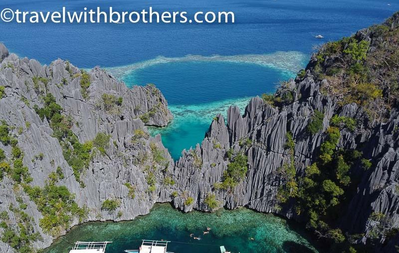 Coron, the clear water in a lagoon